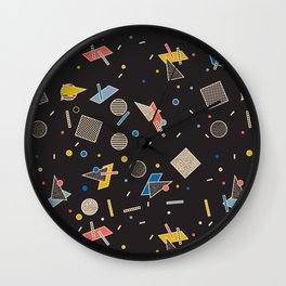 Memphis Inspired Pattern 10 Wall Clock