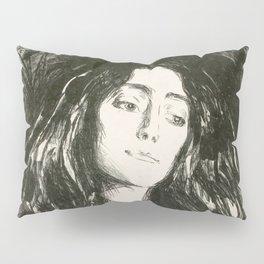 "Edvard Munch ""The Brooch. Eva Mudocci"", 1903 Pillow Sham"