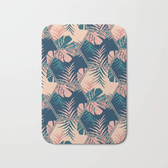 Miami Tiles #society6 #decor #buyart Bath Mat