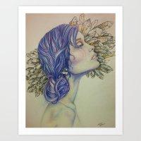 tarot Art Prints featuring TAROT by Amy Shaver