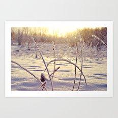 Alaskan Snowfall Art Print