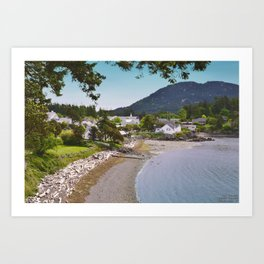 EASTSOUND ON ORCAS ISLAND IN THE PACIFIC NORTHWEST Art Print
