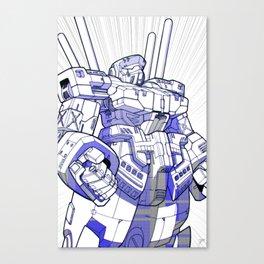 Blue Mecha Canvas Print