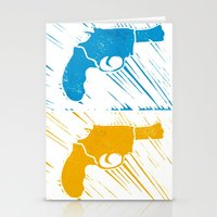 guns Stationery Cards featuring Guns by Chloe Bromfield