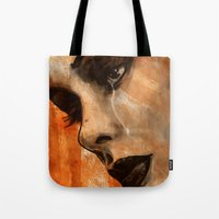 sad Tote Bags featuring SAD by barmalisiRTB