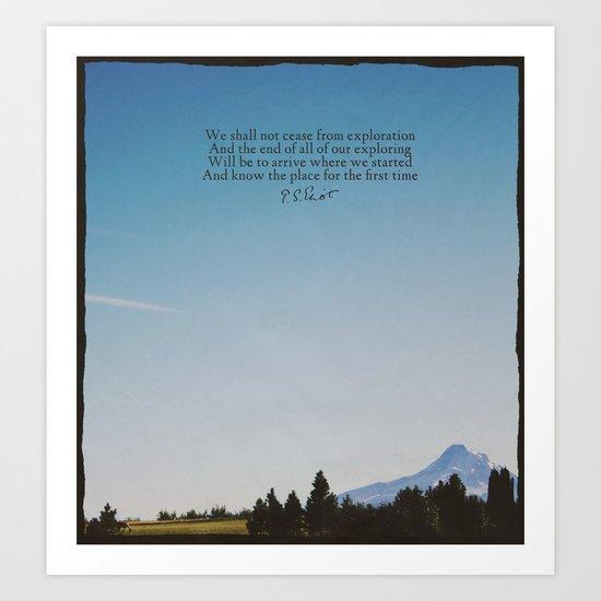 T.S. Eliot: Exploration Art Print