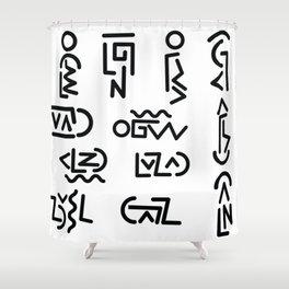 Symbology Shower Curtain