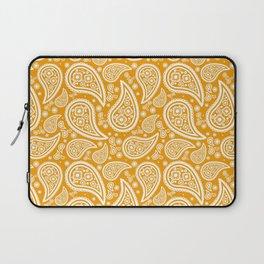 Paisley (White & Orange Pattern) Laptop Sleeve