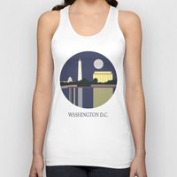 washington Tank Tops featuring Washington D.C by uzualsunday