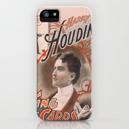 Vintage poster - Harry Houdini, King of Cards iPhone Case
