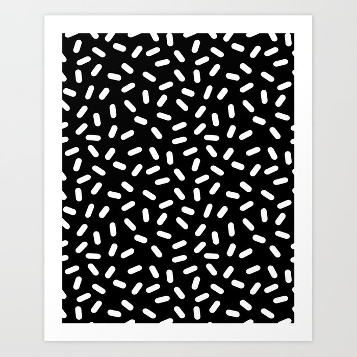 Black And White Retro Prints
