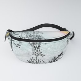 Winter in the woods . Fanny Pack