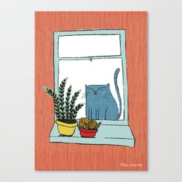 Cat by the window Canvas Print