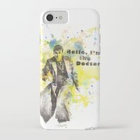 david tennant iPhone & iPod Cases featuring Doctor Who 10th Doctor David Tennant by idillard