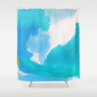 bali Shower Curtains featuring Bali by kristinesarleyart