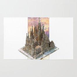 Barcelona Sagrada Familia - axonometric Rug