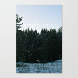 White Tipped Forest Canvas Print