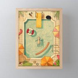 Pool Thoughts Framed Mini Art Print