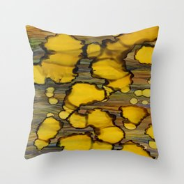drops of yellow Throw Pillow