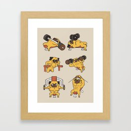 Chest Day with The Pug Framed Art Print