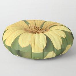 Beautiful Yellow Vintage Flower Floor Pillow