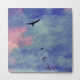 Birds In Flight Metal Print