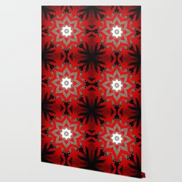 Silver red and black holiday star Wallpaper