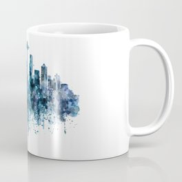Seattle Skyline monochrome watercolor Coffee Mug