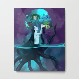 Plant collecting mermaid Metal Print