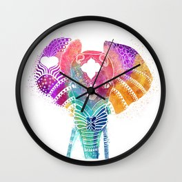 Colorful Elephant Wall Clock