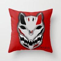 werewolf Throw Pillows featuring WereWolf by FWAETI
