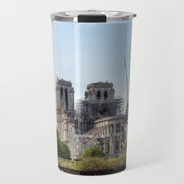 Notre Dame de Paris after the fire Travel Mug