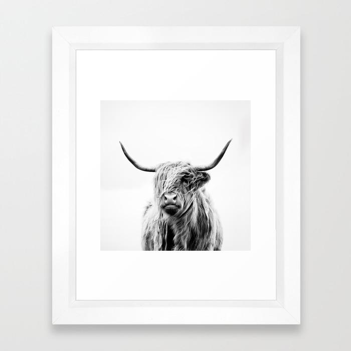 Portrait Of A Highland Cow Framed Art Print By Doritfuhg Society6