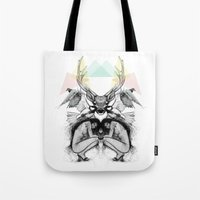 wild things Tote Bags featuring Wild Things by MadeByLen