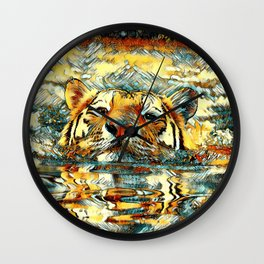 AnimalArt_Tiger_20170601_by_JAMColorsSpecial Wall Clock