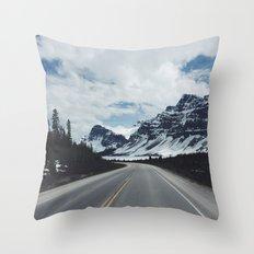 Banff Road Throw Pillow
