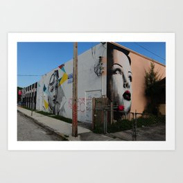 Graffiti of women in Miami Art Print
