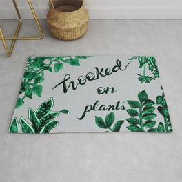 Hooked On Plants In Grey Rug