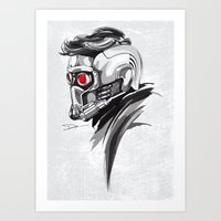 star lord Art Prints featuring Star Lord by Dik Low