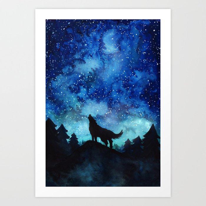 Wolf Galaxy Kunstdrucke