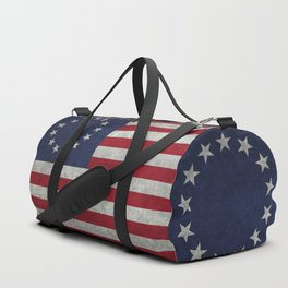 Thirteen point USA grungy flag Duffle Bag
