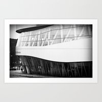 mercedes Art Prints featuring MERCEDES-BENZ MUSEUM by GL-ART-PHOTOGRAPHY