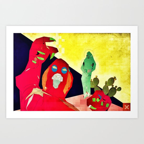 Temptation of Christ in the Desert Art Print