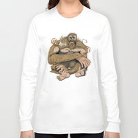 sasquatch Long Sleeve T-shirts featuring Sasquatch by Gregery Miller