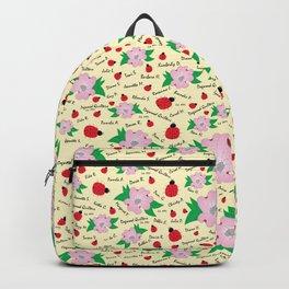 Dreaming Ladybugs and Dogwood Flowers Backpack