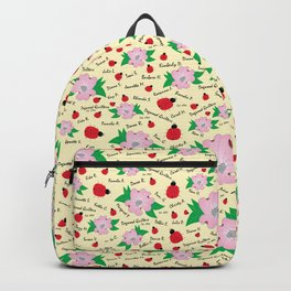Dreaming Ladybugs and Dogwood Flowers Backpack