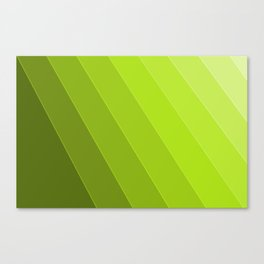 Green Gradient to Light Canvas Print