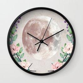 Vanilla Floral D. Wall Clock