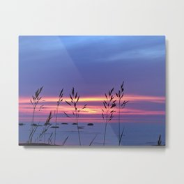 Simplicity by the Sea Metal Print