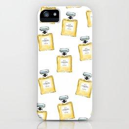 Classic Yellow Parfum Pattern iPhone Case